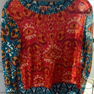Tory Burch Long Sleeve Floral Shirt